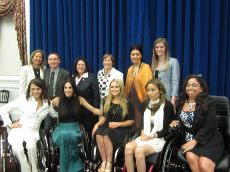With the push girls cast at a White House screening