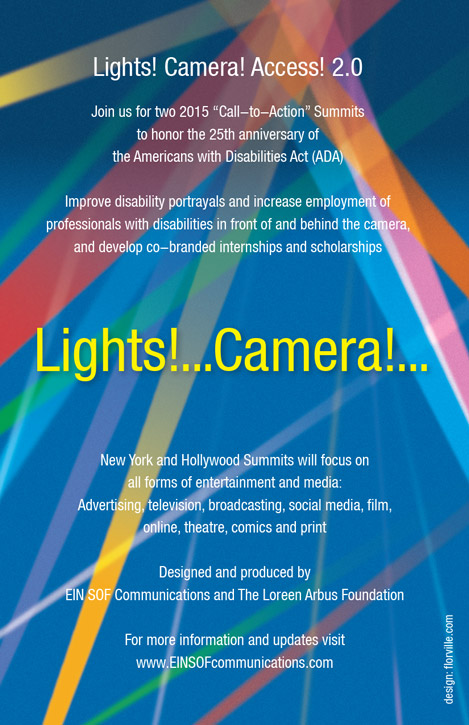 Lights! Camera! Access! 2.0 informational flyer and logo