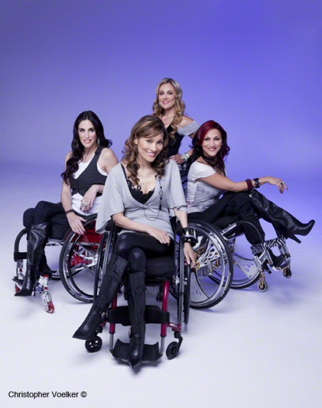 Alt Tag: Photo of The Push Girls, four women who are best friends and wheelchair users.