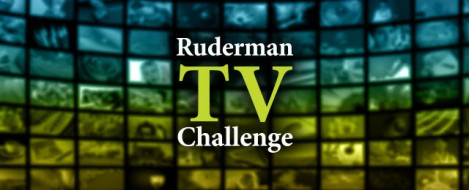 Ruderman TV Challenge appears in front of multiple TV screens